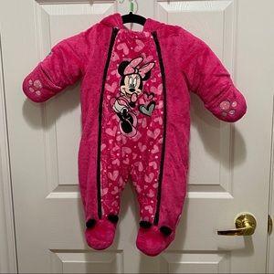 Disney Baby Minnie Mouse Snowsuit 3-6 months